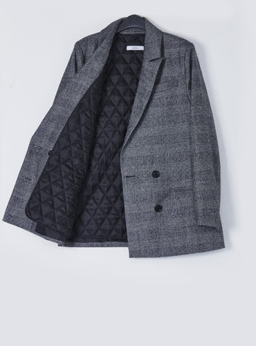 Scarlett Jacket_Black Check - LYKEY