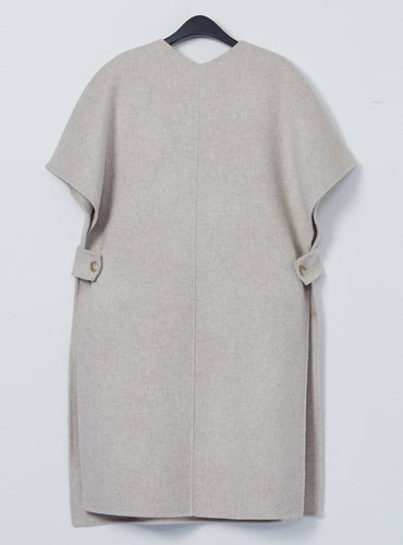 Helen Cape Coat_Almond - LYKEY