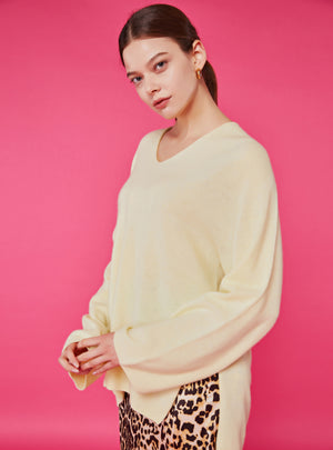 Lauren Sweater_Lemon Chiffon - LYKEY
