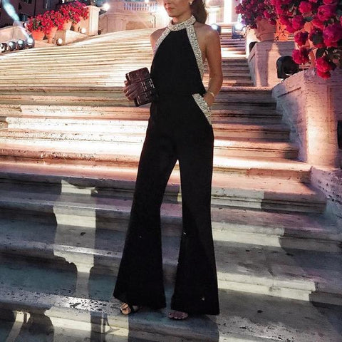 Sleeveless Sexy Wide Leg Jumpsuit