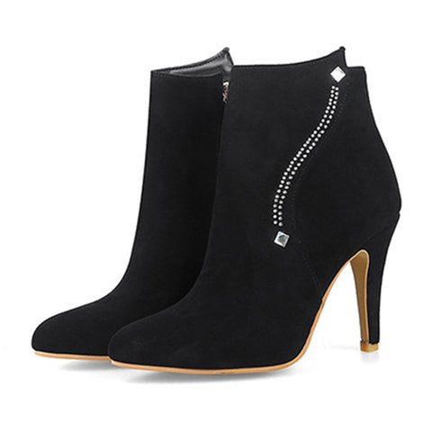 Fashion Pointed High Heel Ankle Boots