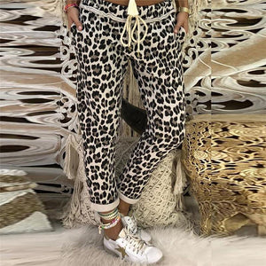 Fashion Leopard Print Loose Casual Straight