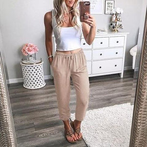 Casual Loose Thin Harem Pants Nine Trousers