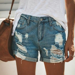 Fashion Versatile Denim Shorts