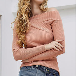 One-Shoulder Autumn And Winter Sweater