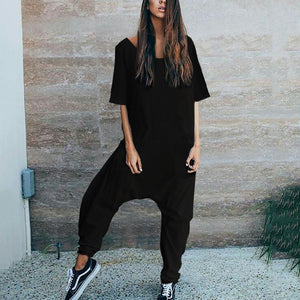 Stylish Casual Loose Short Sleeve Jumpsuits