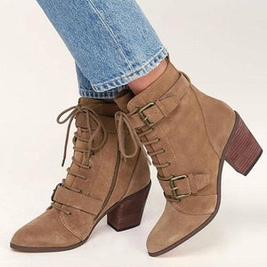 European and American coarse belt boots