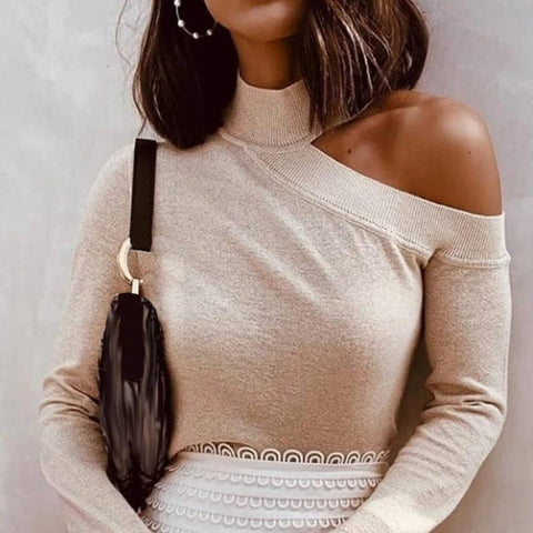 Casual Off-The-Shoulder T-Shirt