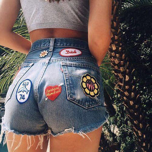 Leisure Style Splicing Denim Shorts