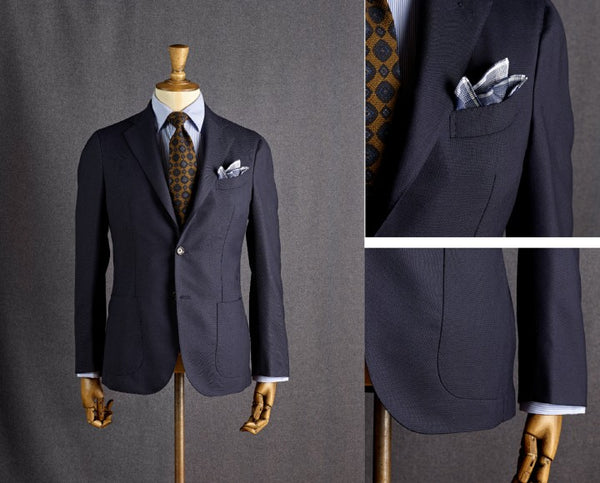 Fox Brothers Midnight Hopsack Blazer