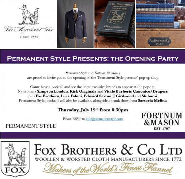 'Permanent Style Presents' Fortnum & Mason Pop Up Shop