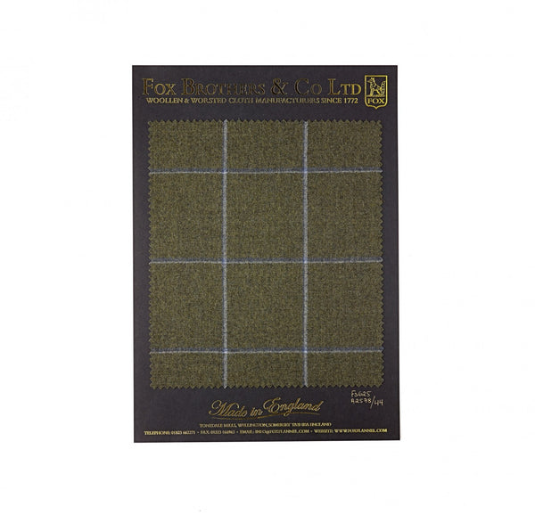 290g Olive Green Windowpane