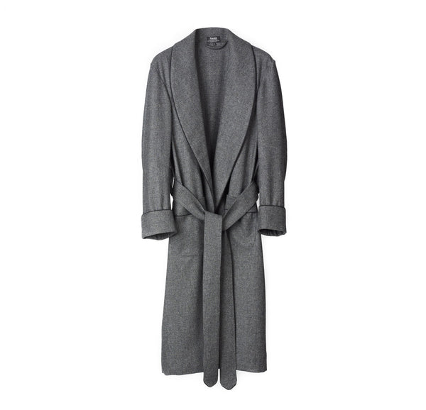 Fox Flannel Glen Check Dressing Gown