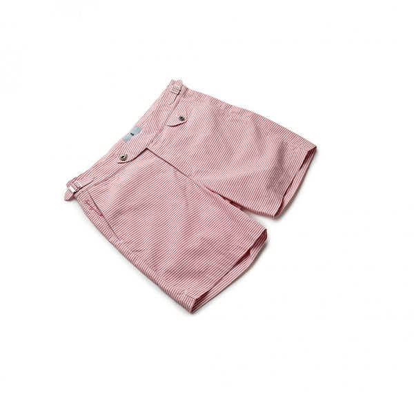 Seersucker Pink Stripe Swim Shorts
