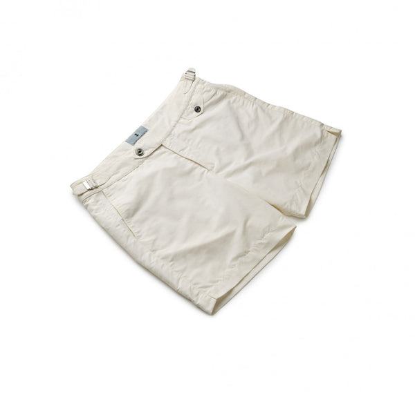Solid White Swim Shorts