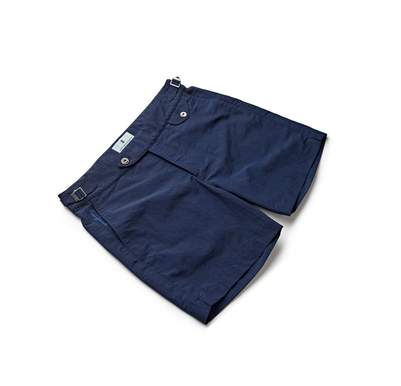 Solid Navy Swim Shorts