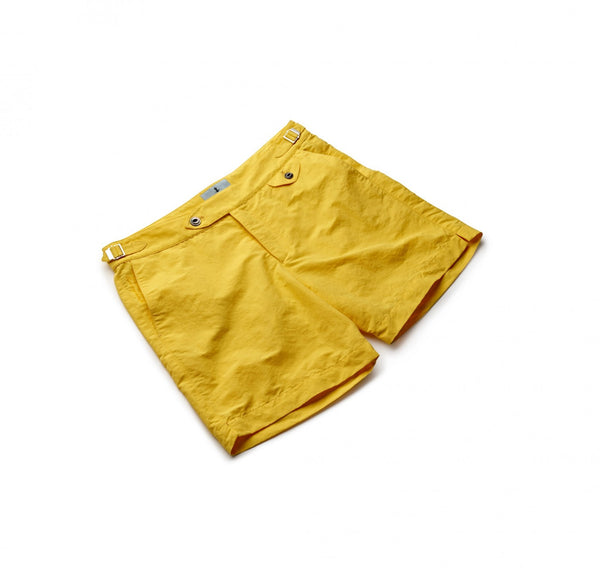 Solid Yellow Swim Shorts