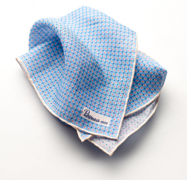 Petronius Riviera Tear Pocket Square