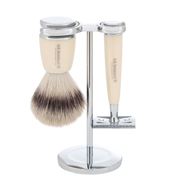 3 piece safety razor synthetic shaving set