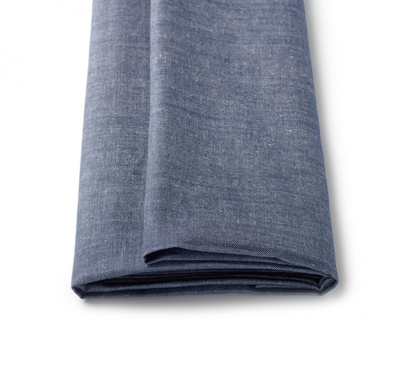 Bright Denim Blue Linen Jacketing