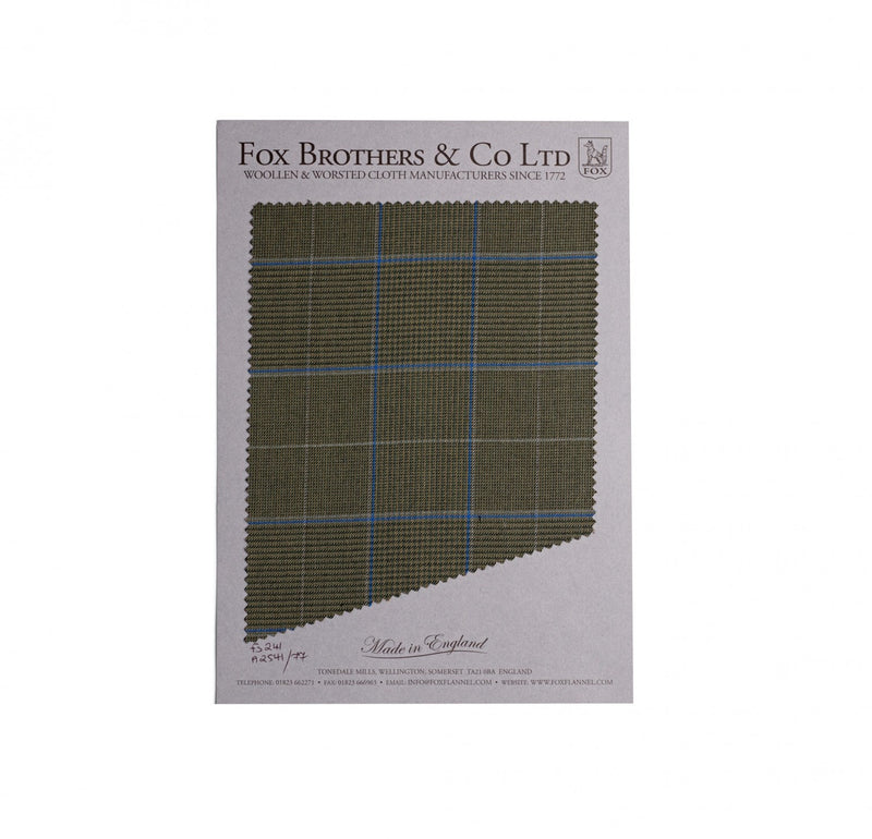 British Khaki Worsted Glen Check