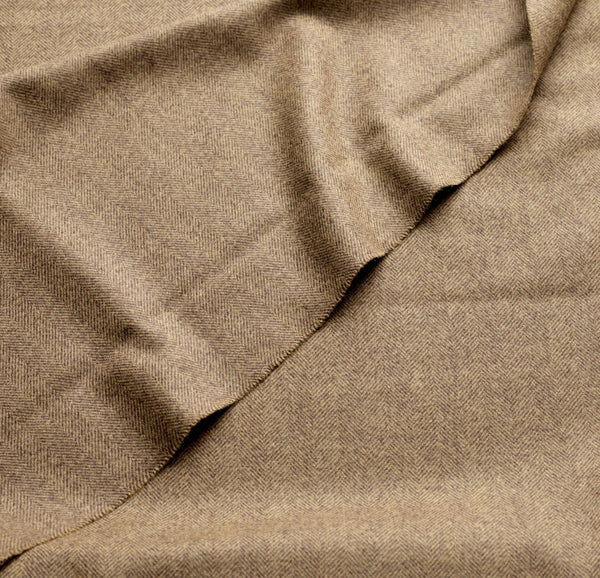 Camel Herringbone Mayfair Flannel