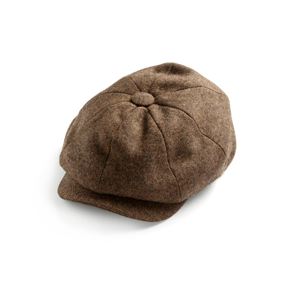 Cedar Herringbone Soft Tweed 30's 8 panel Cap