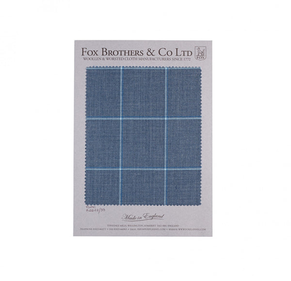 Char-Blue Worsted Windowpane