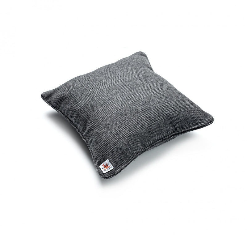 Charcoal Glen Check Cushion