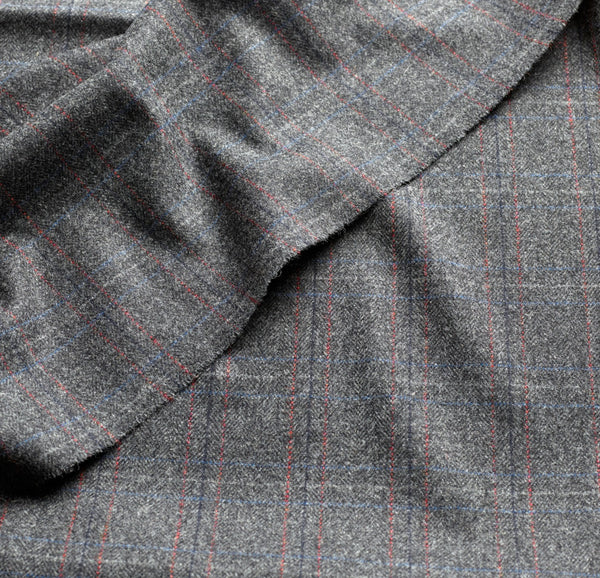 Charcoal Herringbone Windowpane