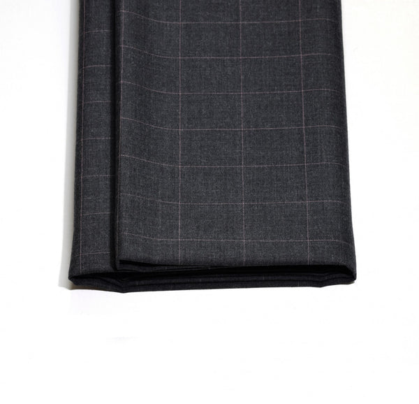 Charcoal Pindot Windowpane