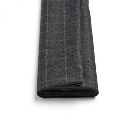 Charcoal Windowpane Flannel