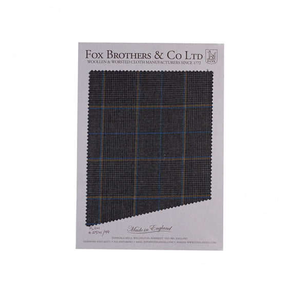Charcoal Worsted Glen Check