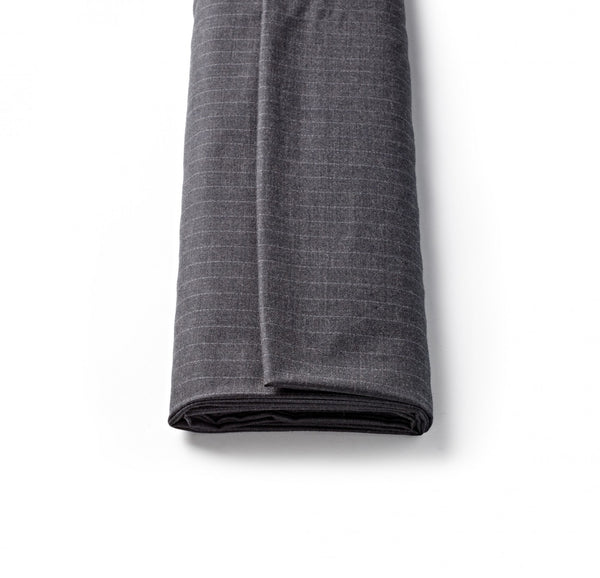 Charcoal Worsted Pin Stripe