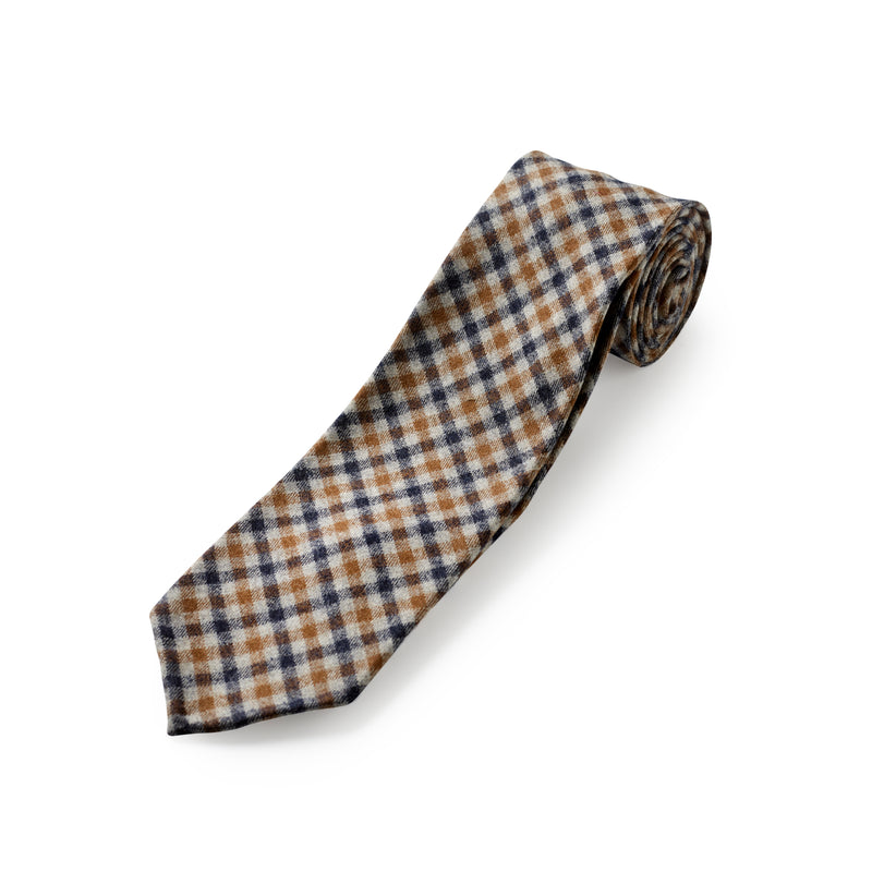 Fox Chestnut and Midnight Check Tie
