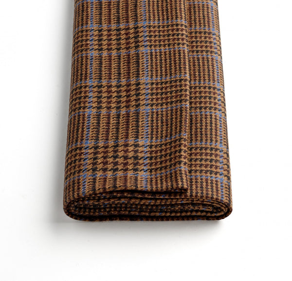 Chocolate Brown Glen Check Jacketing