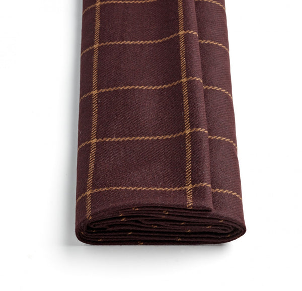 Chocolate Brown Windowpane Jacketing