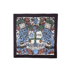 Chocolate Coat of Arms Silk Scarf