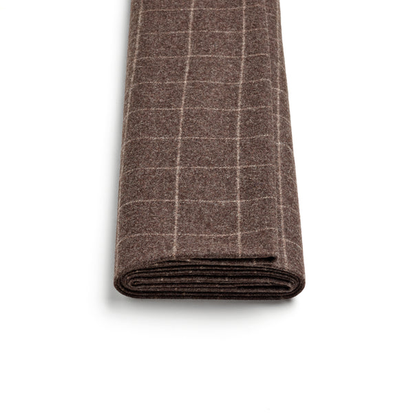 Brown Windowpane Flannel