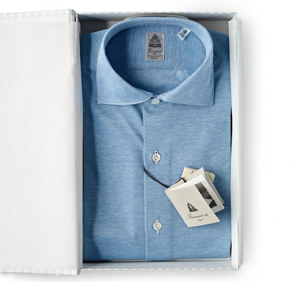 Finamore Light Blue Oxford Shirt