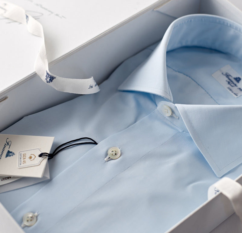 Finamore Pale Blue Dress Shirt