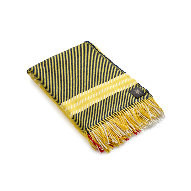Fine Merino Fox Brothers Exe Blanket in Yellow