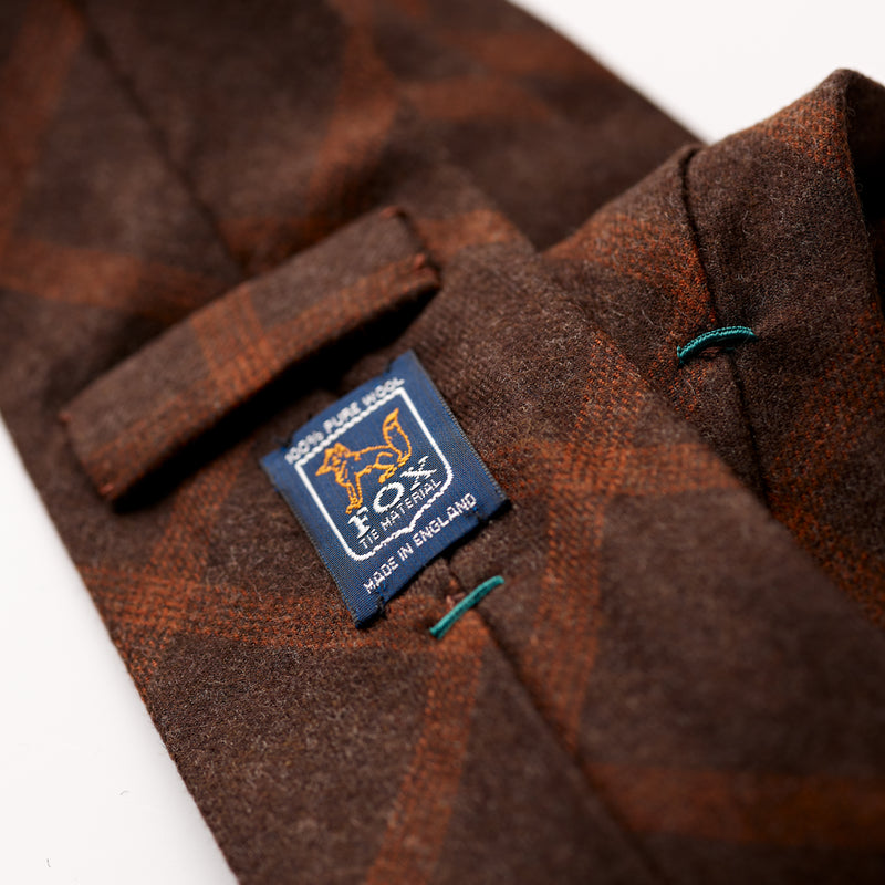 Fox Chestnut and Russet Check Tie