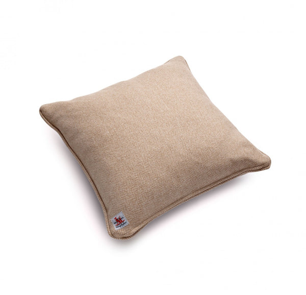 Fox Diamond Weave Cushion in Camel