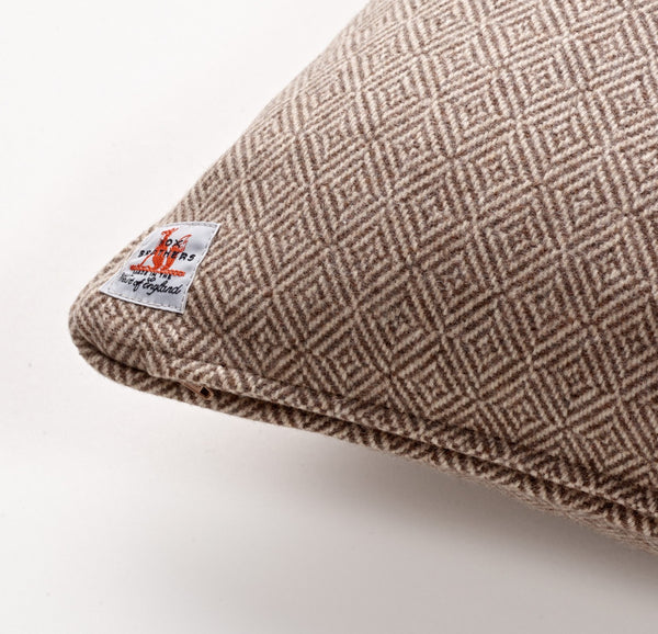 Fox Diamond Weave Cushion in Fawn