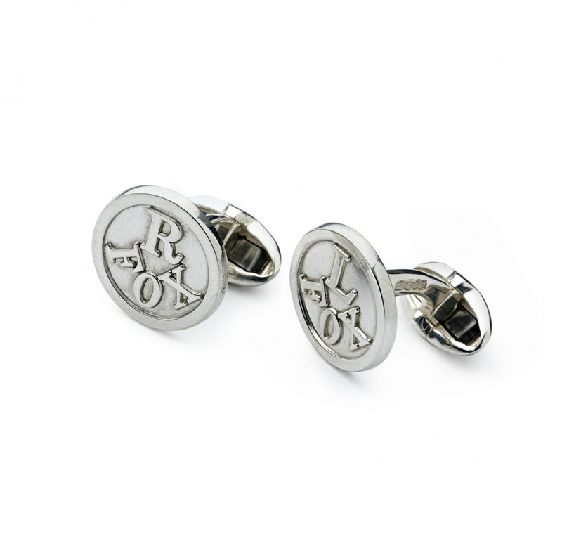 Fox L & R Sterling Silver Cufflinks