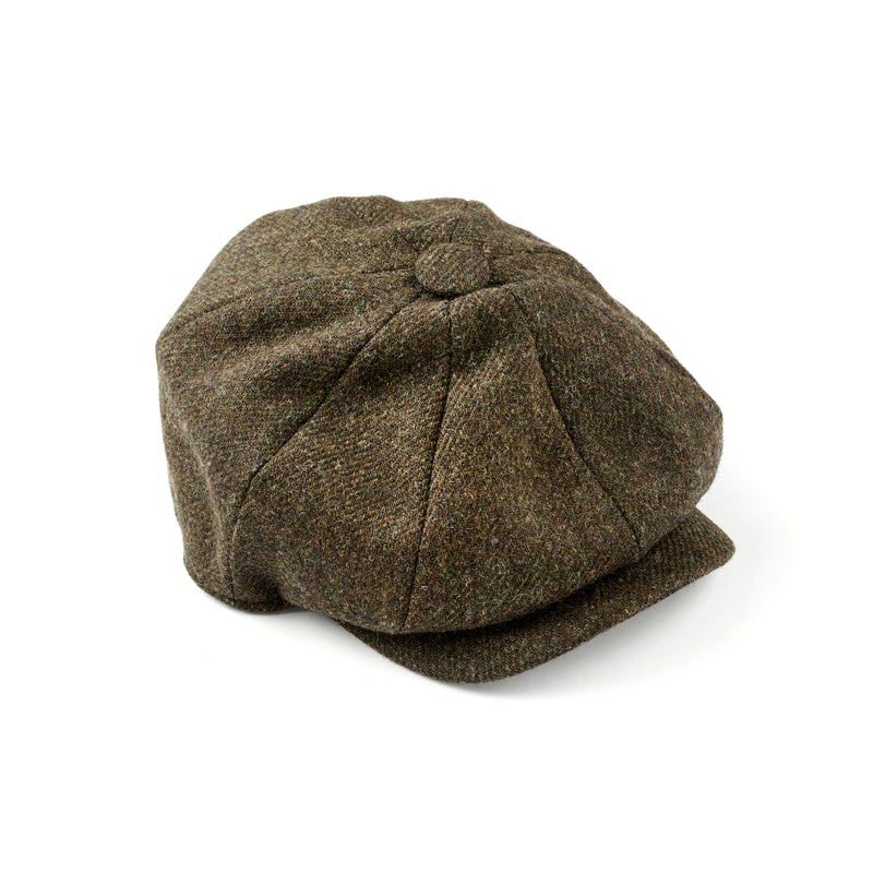 Luxury-Fox-Brothers -Tweed-Hedgerow- 8 -panel-cap