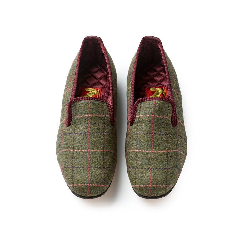 Fox Exmoor Check Albert Slippers