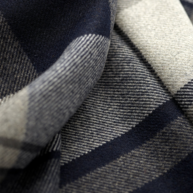 FoxBrothers-Luxury-51%-Cashmere-49%-Merino-Wool-Scarf-Navy-Grey-Check.