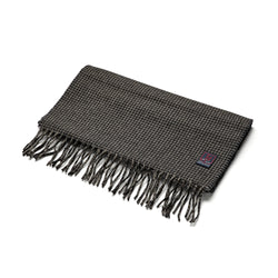 FoxBrothers-Luxury-51%-Cashmere-49%-Merino-Wool-Scarf-Charcoal-Houndstooth-